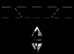 light diamond (- Georg K -) Tags: street light shadow urban white black window backlight contrast high triangle key graphic geometry low human element humaningeometry