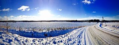 Winter Panorama (Edgar Myller) Tags: winter light sun snow cold against day phone cell contrasty iphone