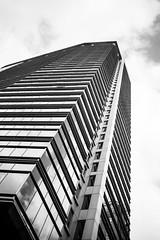 towering (eb78) Tags: sf sanfrancisco california ca blackandwhite bw monochrome architecture financialdistrict grayscale greyscale