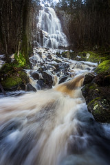 Waterfall (Arvid Bjrkqvist) Tags: longexposure motion fall water creek flow waterfall moss rocks stream sweden stones vnersborg vargn halleberg brudsljan nordkroken skktefallet