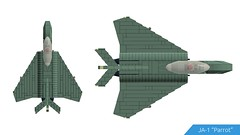 "JA-1 ""Parrot"" (Schellerg, Pedro) Tags: fighter lego military jet"