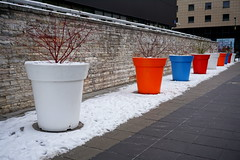 Warsaw (anita.miszczyk) Tags: winter urban white snow architecture decoration pot pots decor