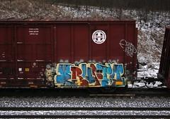 Erupto (quiet-silence) Tags: railroad art train graffiti railcar boxcar graff sws freight bnsf erupto fr8 vts a2m bnsf721815
