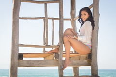 Karen (Frank CasPe) Tags: blue sun sexy beach girl beautiful puerto jalisco playa bikini vallarta