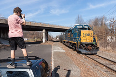 Roof Shot (sullivan1985) Tags: new railroad train march nj railway jersey erie freight cr shared lackawanna assets conrail 2016 emd sd452 pr08