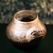 Ceramic frog shaped pot