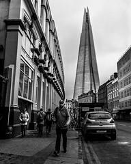 The Shard (Southwark Street) (Warren Brendan McCann) Tags: blackandwhite london londonbridge mono theshard canong1x