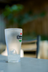 Glass need its companion (Piaklim) Tags: morning ice beer glass bokeh empty