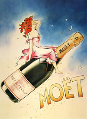 1975 Moet & Chandon Champaign poster Girl Riding Bottle (btreat) Tags: champaign moetchandon moet girlridingbottle