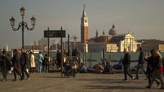 Venice (Diego Innocenti) Tags: venice sea sky people italy sun water river person san italia crowd sunny marco gondola persons venezia sanmarco gondole crowdy hs20 hs20exr