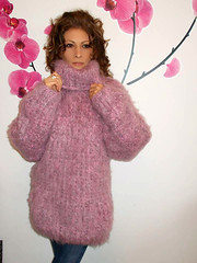 Pink sweet mohair milf (Mytwist) Tags: pink sexy fashion lady female fetish vintage cozy fuzzy sweet craft style f mohair passion turtleneck knitted mistress milf pullover laine vouge knitwear vtg rollneck rollkragen