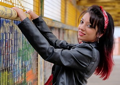 Serie El Puente - Melisa 5 (Nitideces de Miguel Emele) Tags: portrait people woman sexy girl beauty fashion mujer model glamour chica gente retrato moda modelo sensual fujifilm belleza elegance elegancia xt1 xf1655