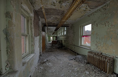 We have di Style weh Dem Love, Dem watch Me like MTV (RiddimRyder) Tags: old windows winter light abandoned church beauty canon hospital dark death peeling paint decay corridor symmetry chips elderly age urbanexploration care peel abandonment crumbling urbex riddimryder