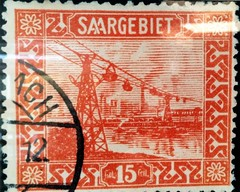 Saarlndisches Bergbaumuseum Bexbach (micky the pixel) Tags: htte ephemera stamp bergbaumuseum industrie saarland typografie briefmarke neunkirchen eisenwerk bexbach saargebiet aaligature