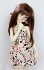 Ellory (kickyresin) Tags: doll faith bjd hybrid abjd monique yul balljointed reddishbrown mnf kdf kiddelf minifee