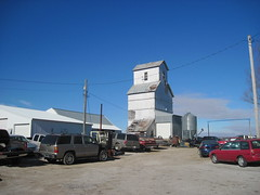 40. Their old grain elevator, which may still be used, Mercier, 2-14-16 (leverich1991) Tags: brown town exploring ghost kansas mercier 2016