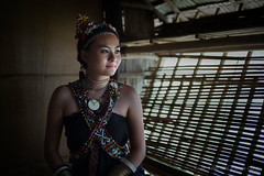 RUNGUS MODEL CLOSE UP (joycelynchang) Tags: people house long ethnic sabah kudat rungus