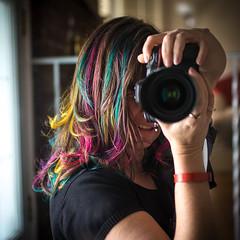 Got my hairs all colourful! (Dani_Girl) Tags: selfportrait colour me hair rainbow selfie