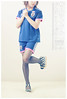 a uniform with heels ??!! (myymeecute) Tags: portrait black self legs feminine leg stripe style crossdressing teen heels stocking pantyhose crossdress sheer crossdressor myymee myymeecute