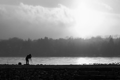 the photographer (Marc McDermott) Tags: winter sunset white lake black clouds photographer