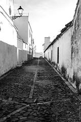 Calle empedrada (Franci Esteban) Tags: street blackandwhite espaa blancoynegro blanco calle andaluca pueblo streetphotography cdiz sombras tarifa contrastes facinas puebloandaluz adoqun calleempedrada