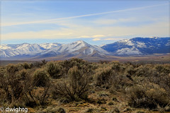 A new day  (explore) (dwight g) Tags: snow clouds canon desert ps brush sage hills topaz 6d 24105mm