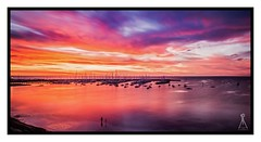 FIERY SUNSET (Laws Photography | www.lawsphotography.com) Tags: longexposure sunset sky seascape beach beautiful skyline clouds canon reflections landscape colorful melbourne yachts sunsetting yachtclub ndfilter neutraldensityfilter photoboarder amazingskies longshutterexposure longexposuresunset canon6d longexposurecolour nd10stop melbournelongexposure lawsphotography vaughanlaws