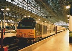 "English Welsh & Scottish Railways Royal Plum Class 67, 67006 ""Royal Sovereign"" (37190 ""Dalzell"") Tags: valencia manchester gm piccadilly skip alstom royaltrain generalmotors ews royalsovereign class67 67006 northernbelle royalplum englishwelshscottishrailways"