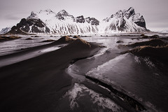 Stokksnes - Iceland (Giorgino23) Tags: longexposure sea mountain ice beach canon iceland 6d islanda vestrahorn nd110