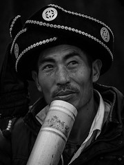 (sunnyha) Tags: china people blackandwhite bw man canon outdoors photographer chinese human photograph  yunnan minority photographier  6d ethnicminority     eos6d  ef70200mmf4lisusm  sunnyha luopingcounty