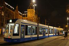 2071, Amsterdam Centraal, January 26th 2015 (Suburban_Jogger) Tags: winter holland netherlands night shot metro transport january siemens tram rails vehicle amsterdamcentraal gvb combino 2015 2071