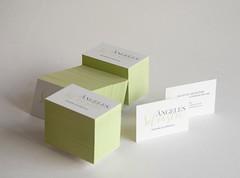 ngeles Silvestre (El Calotipo) Tags: color design businesscards edge silkscreen diseo tarjetas serigrafa
