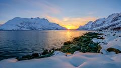Sunset (John A.Hemmingsen) Tags: sunset sky panorama snow landscape spring fujifilm nordnorge tromsø ersfjordbotn