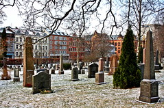 Gravlund (A guy called John) Tags: city trees winter urban white snow cold cemetery graveyard oslo norway spring frost capital headstones frosty graves norwegian edvard nordic colourful munch ibsen henrik vr wintry frelsers gravlund