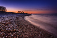 Abendlicht (petersen.bernd) Tags: strand wasser himmel ostsee damp abendrot