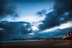 Recuerdos (Memories) (Dibus y Deabus) Tags: sea sky españa beach clouds canon dawn mar spain gijón asturias playa amanecer cielo nubes gijon 6d