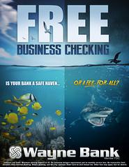Free Business Checking Ad (Justin Roach Work Stuff) Tags: advertising design graphicdesign bank batman scranton nepa brucewayne honesdale 570 waynebank