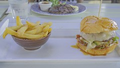 when you get hungry (bart.kwasnicki) Tags: cheese dinner lunch bacon pub burger chips fries hamburger ser melted bekon frytki