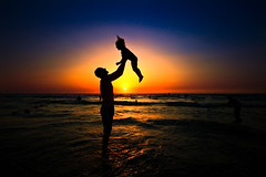 Unconditional Love (Lior. L) Tags: sunset sea love beach wow silhouettes emotions unconditionallove