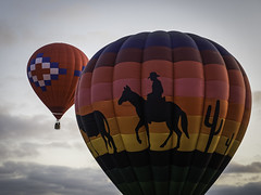 Happy Trails Upward (keith_shuley) Tags: colors balloons colorful horseshoebay hotairballoons