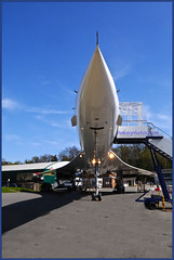 Concorde Front On (bokosphotos) Tags: hand airplanes concorde concord forcedperspective weybridge petrolpump airoplanes brooklandsmuseum gooddayout weybridgesurrey homeofconcord birthplaceofbritishmotorsport