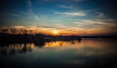 Sunset (Janey Song) Tags: park sunset usa reflection travelling nature water clouds river landscape evening view dusk ngc omot ef1635mmf28liiusm canon5dmarkiii