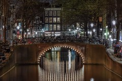 Another piece of Amsterdam (karinavera) Tags: street city longexposure travel bridge urban netherlands colors amsterdam night lights canals exploration nikond5300