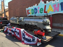 A famous KiddieLand miniature came back home for a day in Melrose Park IL. (Chicago Rail Head) Tags: homecoming lookingback steamlocomotive 484 parktrain kiddielandlimited miniaturetrainride over65yearsold memoryofourchildhood kiddielandmelroseparkil
