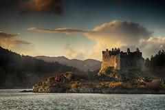 Castle Tioram (OutdoorMonkey) Tags: sunlight history water sunshine landscape outside evening scotland outdoor historic sunlit ardnamurchan waterscape moidart castletioram lochmoidart