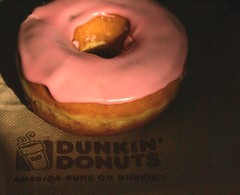 Shy Strawberry Frosted. (chloe & ivan) Tags: dayofthedonut