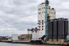 Grain Silo, Lowestoft... (Mel Low) Tags: port suffolk nikon ship harbour silo lowestoft victress suffolkcoast generalcargo nikond7000