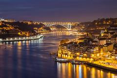 Oporto (S l a w e k) Tags: world bridge heritage portugal architecture night river bank landmark unesco porto douro sight oldtown oporto arrabida ribeira vilanovadegaia