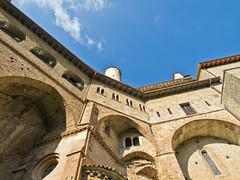 San Benedetto # 3 (schreibtnix) Tags: italien sky italy travelling clouds reisen himmel wolken sanbenedetto monastery kloster subiaco olympuse5 schreibtnix