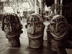 there is hope (a.pierre4840) Tags: urban blackandwhite bw streetart monochrome lumix hongkong dof noiretblanc streetphotography depthoffield panasonic f25 14mm artfilter fotor